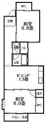 広島県呉市仁方西神町の賃貸アパートの間取り