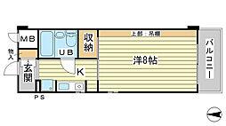 O−6マンション[208号室]の間取り