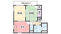 フレグランス浜甲子園A棟[201号室]の間取り