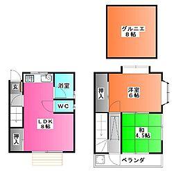 [一戸建] 東京都北区上十条1 の賃貸【東京都 / 北区】の間取り