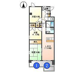 アベニューイン富士[3階]の間取り