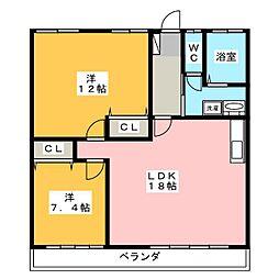 ひばりビル[3階]の間取り