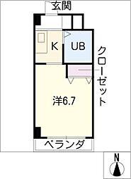 愛知県北名古屋市加島新田屋敷の賃貸マンションの間取り
