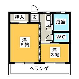 成島荘[3階]の間取り