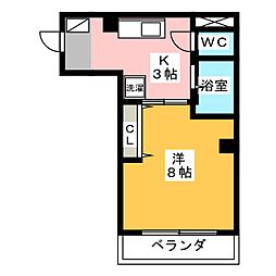 Opus Three[4階]の間取り