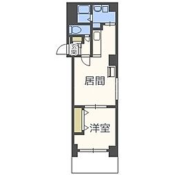 北海道札幌市中央区南二条西12丁目の賃貸マンションの間取り