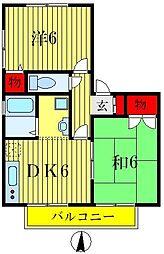 セントパークハイツA・B棟[1階]の間取り