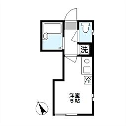 フルセイル西生田[2階]の間取り