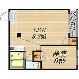 おしゃれ館新森[4階]の間取り