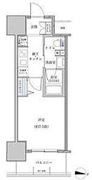 名鉄名古屋本線 山王駅 徒歩6分の賃貸マンション 6階1Kの間取り
