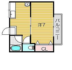 アンコスモヒバリ[2階]の間取り