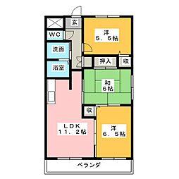 ソレーユ[1階]の間取り