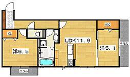 (仮)D−room 渚本町[1階]の間取り