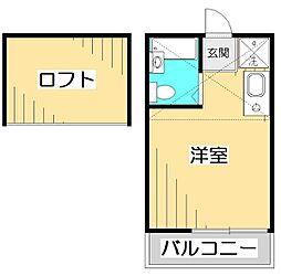 東京都国分寺市東元町3丁目の賃貸アパートの間取り
