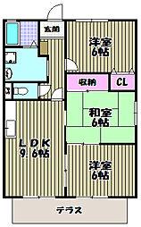 パイニーコーポ戸松[2階]の間取り