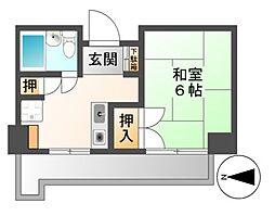 CASA NOAH 名古屋Ⅲ[5階]の間取り