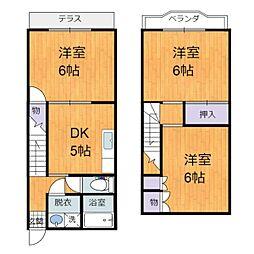 [テラスハウス] 埼玉県八潮市緑町3丁目 の賃貸【/】の間取り