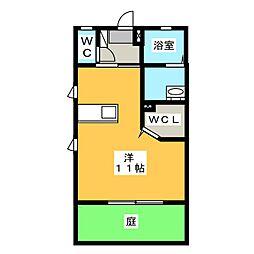 メゾンクリスタルB棟[1階]の間取り