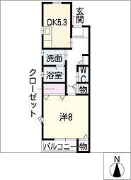 アーバンコープ篭屋[1階]の間取り