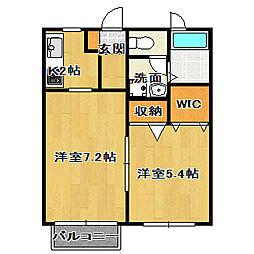 サンセットK[1階]の間取り