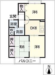 オークレール 3[2階]の間取り
