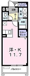 エレガンテフィールドII[1階]の間取り