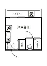 ミリオンコート新宿[1階]の間取り