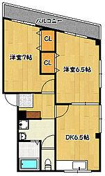 兵庫県神戸市兵庫区熊野町5丁目の賃貸マンションの間取り