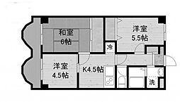 ランバーパート6[3階]の間取り