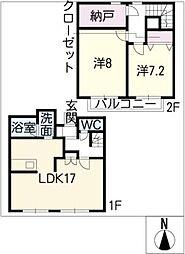 [一戸建] 愛知県一宮市馬見塚字郷内 の賃貸【/】の間取り