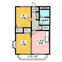 サン・ファミーユII[2階]の間取り