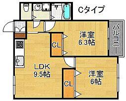 ウィンミサキ[2階]の間取り