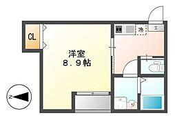 SAKURA東海通B棟[2階]の間取り