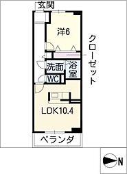 プラネットD棟[3階]の間取り