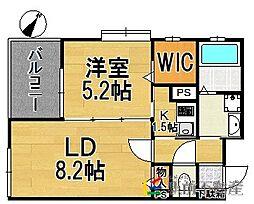 リンデン東薬院[4階]の間取り