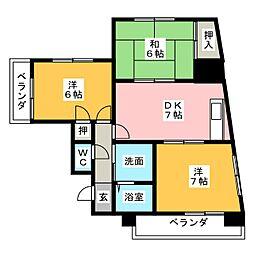 三光ビル[3階]の間取り