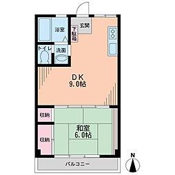 瀧口ビル[4階]の間取り