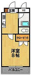 エスペラント嵯峨[403号室]の間取り