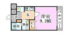 兵庫県神戸市北区有野中町1丁目の賃貸マンションの間取り