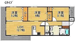 クリアクレセント住之江[9階]の間取り