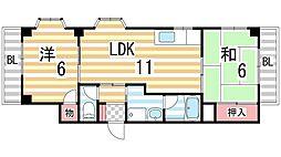 Rinon住道[4階]の間取り