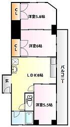 シャトレイユ[4階]の間取り