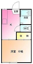 ハイツ中田[2階]の間取り