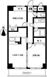 ステラビュー新横浜[403号室]の間取り