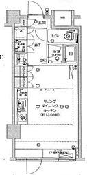 フィース神楽坂[地下1階002号室号室]の間取り