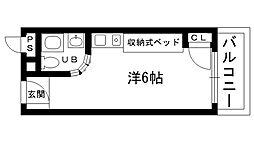 ピュアハウス甲子園[401号室]の間取り