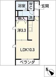 ヘーベルメゾン古井ノ坂[2階]の間取り