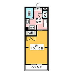 フラットハイツ[3階]の間取り