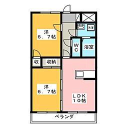 メゾン土本[2階]の間取り