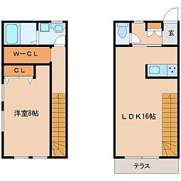 AP-BOXTAKANO2 1階1LDKの間取り